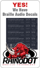 Braille Audio Decals